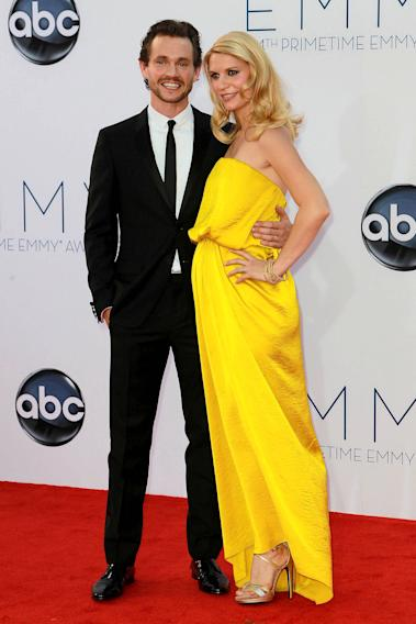 Hugh Dancy and a pregnant Claire Danes 64th Annual Primetime Emmy Awards, held at Nokia Theatre L.A. Live - Arrivals Los Angeles, California - 23.09.12 Mandatory Credit: WENN.com/FayesVision