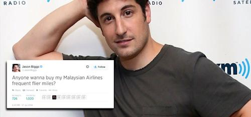 Jason Biggs apologises for 'insensitive' Malaysian Airlines joke