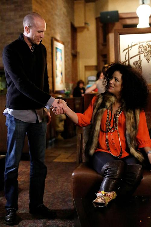 """This undated image released by WE TV shows Melissa Miester meeting a date at a restaurant in Los Angeles in a scene from """"Pregnant & Dating."""" In a recent Associated Press-WE tv poll, 23 percent of men said they would consider starting a relationship with a woman who is pregnant. """"Pregnant & Dating"""" airs on Fridays at 10 p.m. EST on WE TV. (AP Photo/WE TV)"""