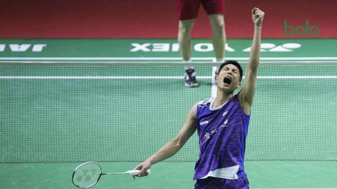 Tunggal putra Chinese Taipei, Chou Tien Chen. (Bola.com/Peksi Cahyo Priambodo)