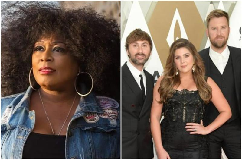 Lady A (left) is battling with the country group formerly known as Lady Antebellum: Twitter/Getty