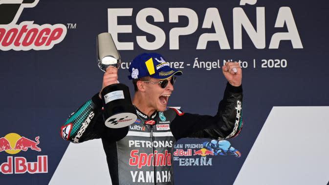 Fabio Quartararo (Petronas Yamaha SRT). (AFP/Javier Soriano)