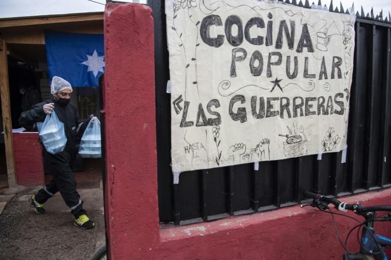 Soup kitchens are back, as crises bite hard in Chile
