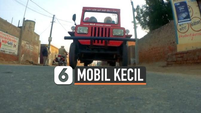 VIDEO: Pria India Ciptakan Mobil Jeep Terkecil di Dunia