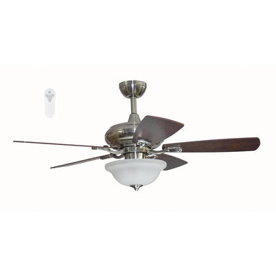 Harbor Breeze Connexxtion 44 In Brushed Nickel Led Indoor Ceiling Fan With Light And Remote 5 Blade Tleii44bnk5l Yahoo Shopping