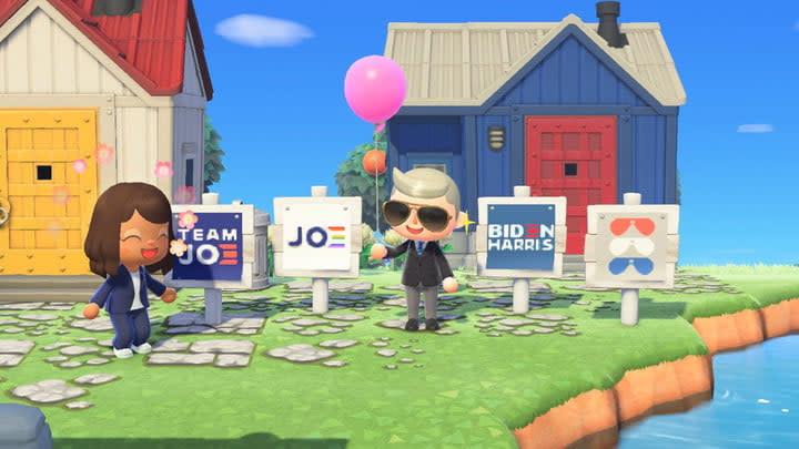 Joe Biden Animal Crossing Sign