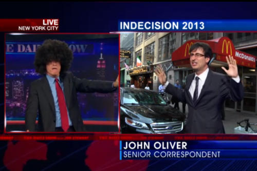 'Daily Show's' Jon Stewart, John Oliver Retire Carlos Danger (Video)