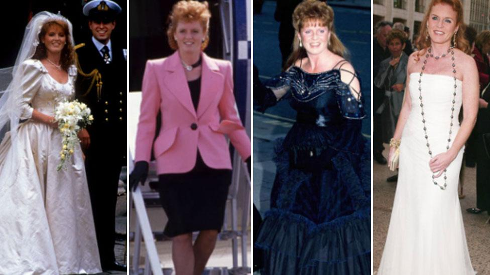 From '80s power suits to her royal wedding comeback, we chart Sarah Ferguson's style evolution