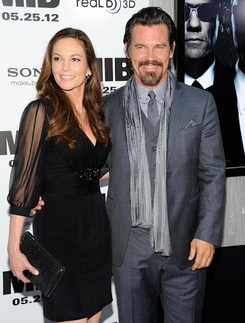 "FILE - In this May 23, 2012 file photo, actor Josh Brolin and wife Diane Lane arrive at the premiere of ""Men in Black 3"" at the Ziegfeld Theater in New York.Court records show that Lane and Brolin's divorce was finalized by a Los Angeles court on Wednesday Nov. 27, 2013. The pair were married in August 2004 and filed for divorce in February 2013. (Photo by Evan Agostini/Invision, File)"