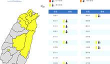 8縣市逾36℃!大台北、中南部午後雷雨 周日恐有擾動發展