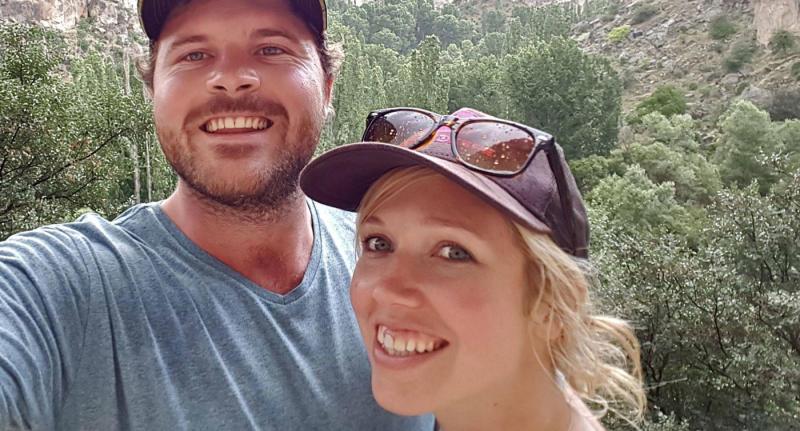 Matthew Turner pictured with wife Karen Turner.