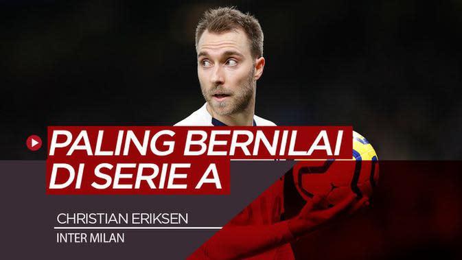 VIDEO: Pindah ke Inter Milan, Christian Eriksen Jadi Pemain Dengan Nilai Pasar Tertinggi di Serie A
