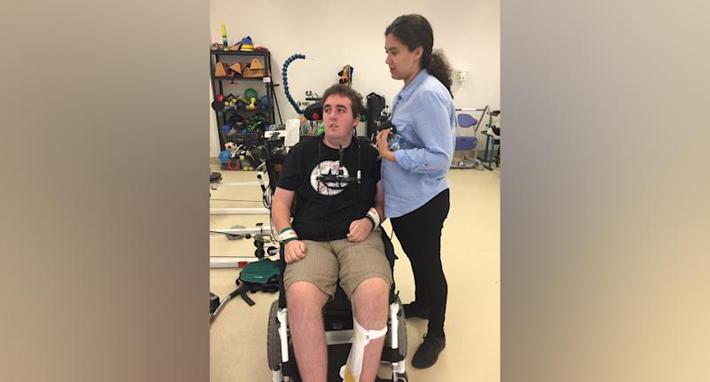 Matt (pictured) is in rehabilitation after spinal injuries.