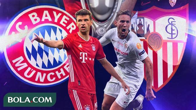 Piala Super Eropa 2020: Drama 3 Gol Dianulir Wasit, Bayern Munchen Butuh 120 Menit untuk Kalahkan Sevilla
