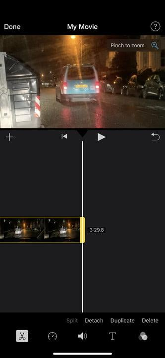 iMovie cropping iPhone video