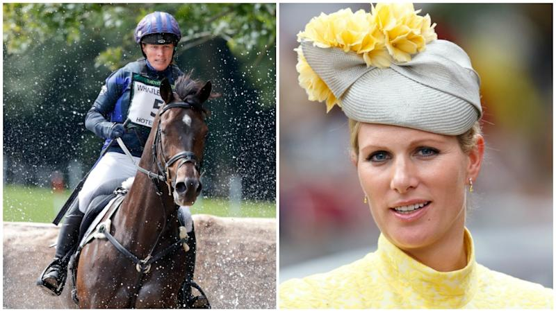 Zara Tindall fell from a horse during a horse racing competition on Saturday. Photo: Getty Images