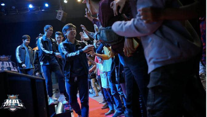 Tim EVOS Esports akan berlaga pada babak grand final MPL Indonesia Season 4, akhir pekan ini. (FOTO / MPL ID)
