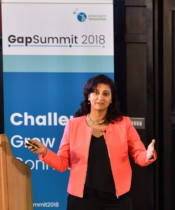 Anu Acharya, CEO of Mapmygenome on April 16, 2018 in Cambridge, England. (Photo by Chris Williamson/Getty Images)