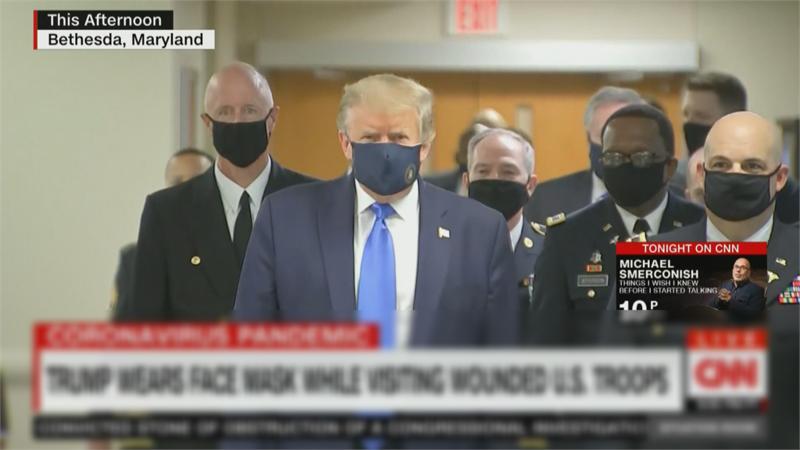 快新聞/美國單日確診數逾6萬再破紀錄 川普終於戴口罩