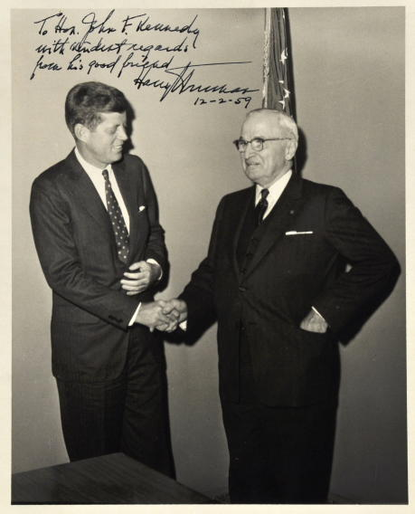 JFK Meets Harry Truman in photo sold at auction