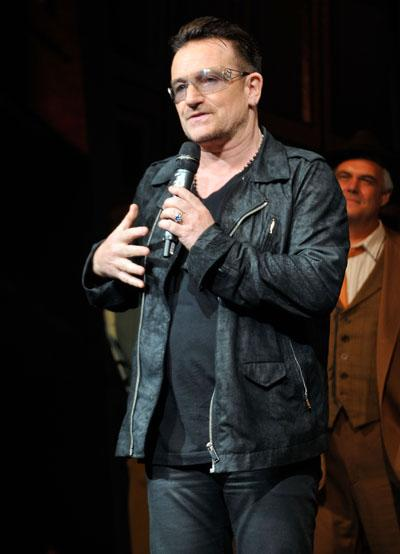 Bono Recruits Mumford & Sons, Macklemore & Ryan Lewis and Elvis Costello for Agit8 Campaign to End Poverty