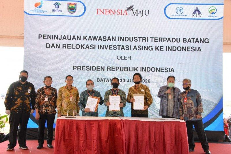 Tiga BUMN tanda tangani MoU pengembangan Kawasan Industri Batang