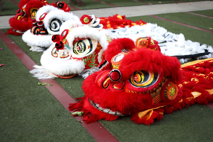 Lion dance is known as 'cherd singto' in Thai — Pictures by CK Lim