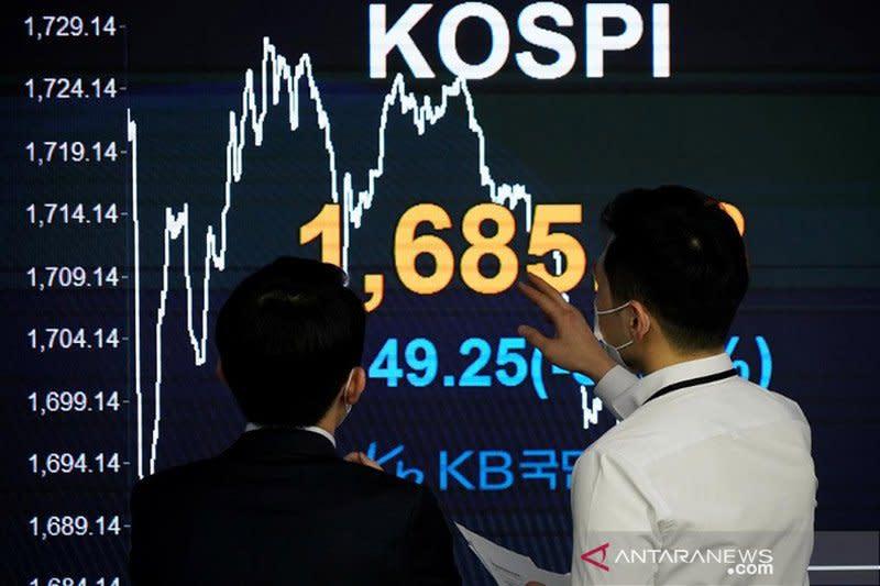 Saham Korsel berakhir jatuh, indeks KOSPI terpangkas 0,95 persen