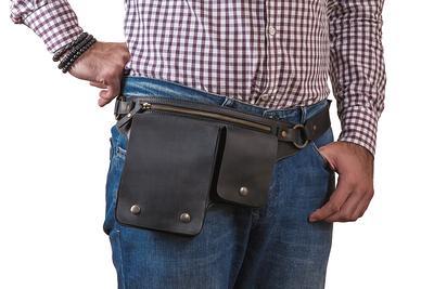 Forager Pockets Teardrop shape ~double pocket~hip bag~festival bag~utility belt~belt bag~ren faire Adult sized