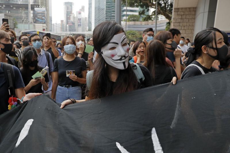 Pengunjuk rasa Hong Kong tuntut pembebasan aktivis Edward Leung