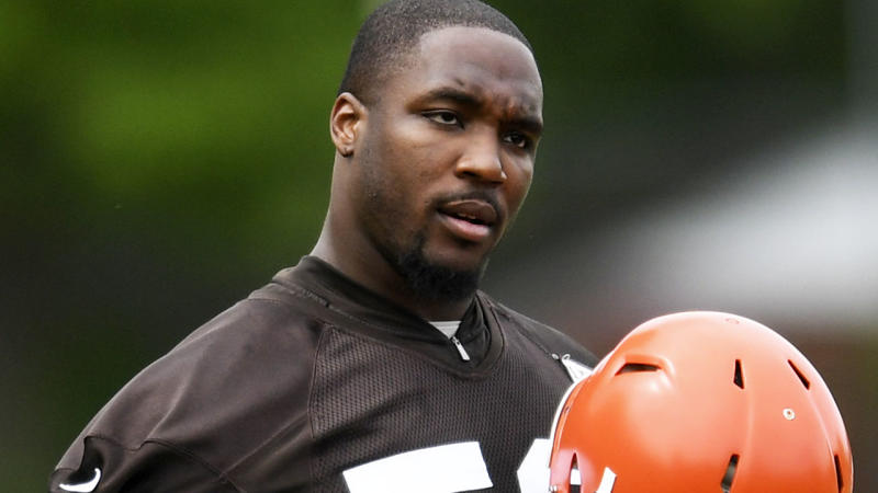 Chris Smith, pictured here during a Cleveland Browns practice session earlier in 2019.