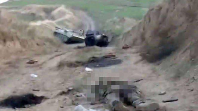 VIVA Militer: Mayat tentara Armenia yann tewas terkena serangan rudal jet Turki