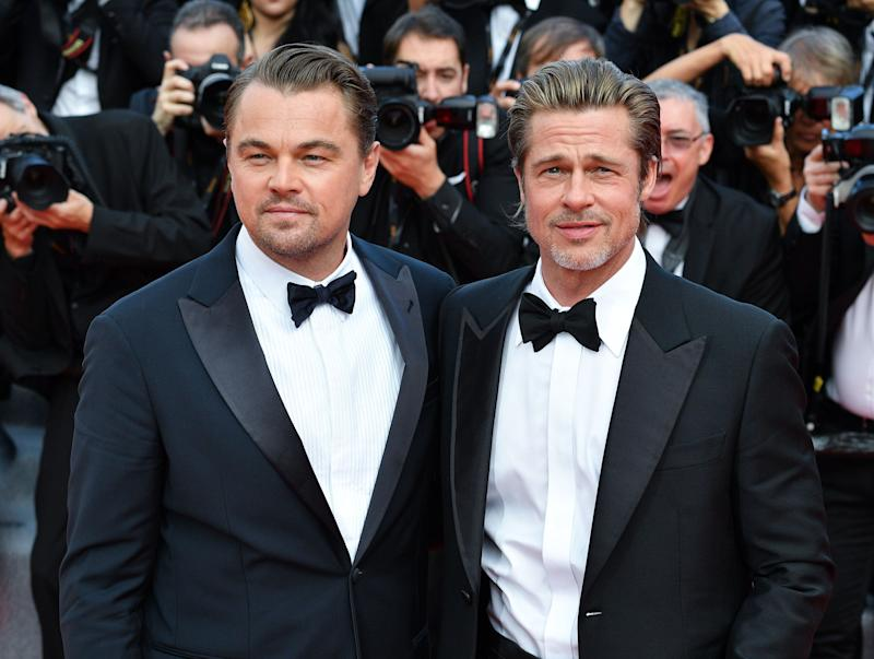 "Brad Pitt and Leonardo DiCaprio at a screening of ""Once Upon a Time in Hollywood"" at the Cannes Film Festival on May 21. (Photo: George Pimentel/WireImage)"