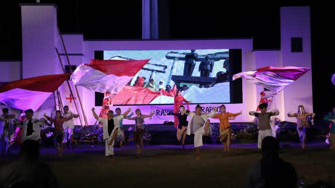 Parade Seni Budaya Surabaya yang digelar di area Tugu Pahlawan Surabaya dan disiarkan secara live lewat media sosial pada Sabtu, (19/9/2020) (Foto: Dok Istimewa)