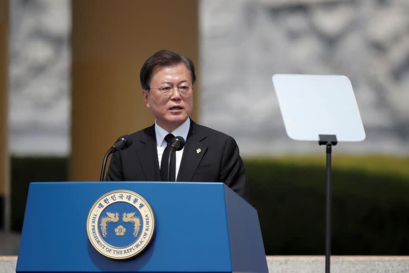South Korea's Moon calls for U.S.-North Korea summit before U.S. election
