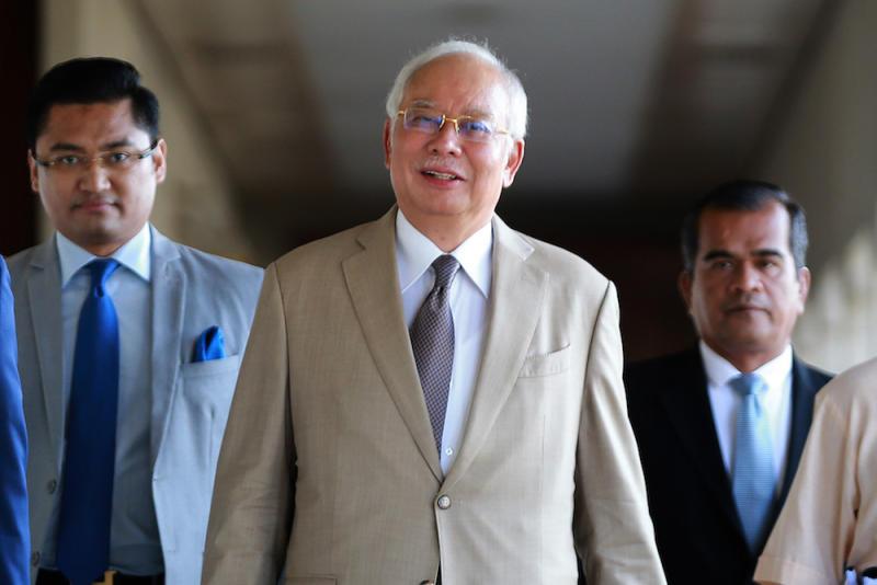 Datuk Seri Najib Razak is pictured at the Kuala Lumpur High Court January 22, 2020. — Picture by Ahmad Zamzahuri
