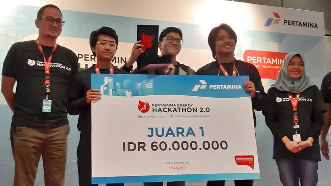 Tim Pertavision asal ITB sukses menjuarai Pertamina Energy Hackathon 2.0 yang berlangsung di Jakarta pada 24-25 Agustus 2019.