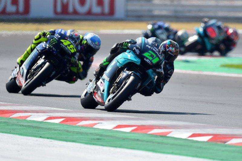 Morbidelli, Quartararo, Rossi start terdepan di GP Catalunya