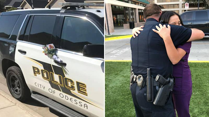 Police officer meets woman who left heartfelt note on his car