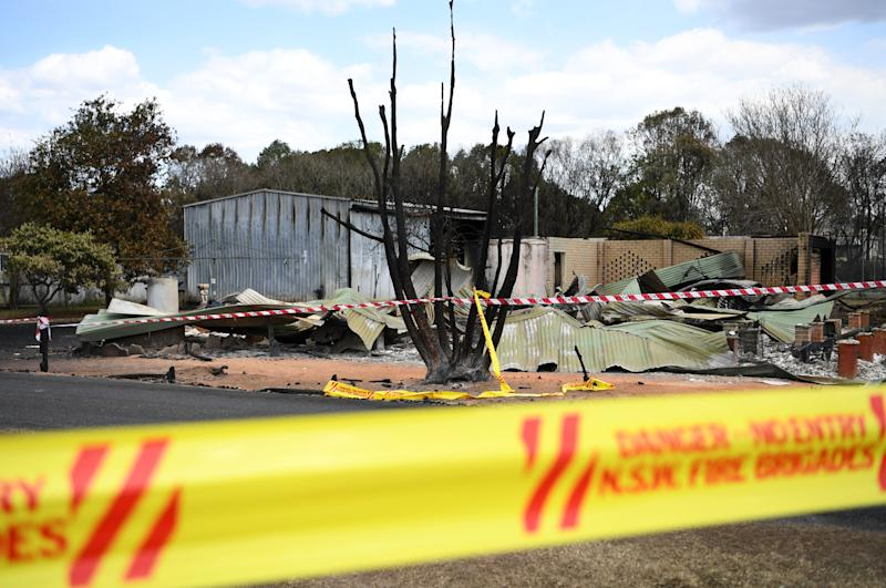 A property destroyed by fire in Rappville. Source: AAP