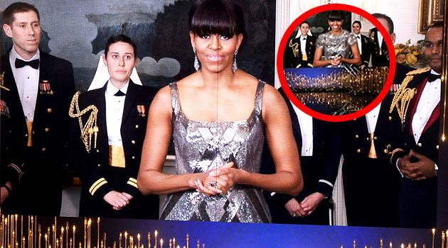 Iranian news censors Michelle Obama's Oscar gown