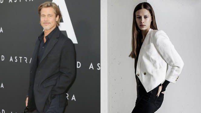 Brad Pitt dan Nicole Poturalski.