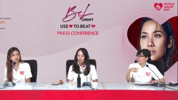 Konferensi pers YJI tentang konser amal BCL bertemakan Use Heart to Beat Heart Disease (29/9). (dok. Brigitta Valencia Bellion).