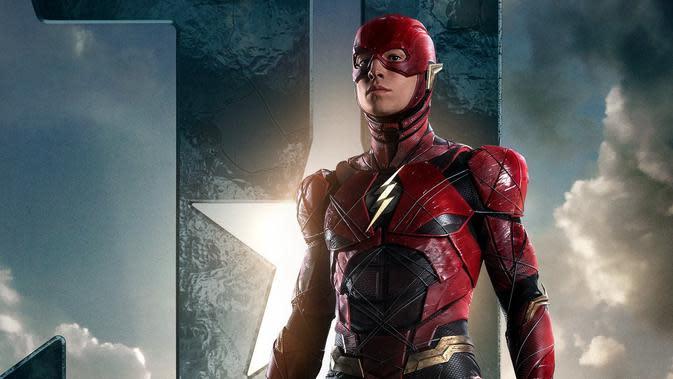 The Flash dalam Justice League. (Warner Bros / Twitter)