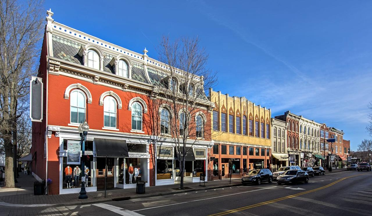 """<p>Franklin, Tennessee, a town just south of Nashville, claims the title of """"America's favorite Main Street."""" </p>"""