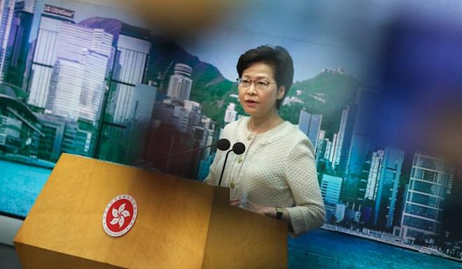 Hong Kong Chief Executive Carrie Lam says she will review the city's virus-containment measures in a meeting on Tuesday afternoon. Photo: K.Y. Cheng