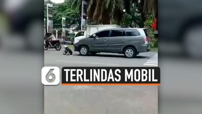 VIDEO: Bocah Terlindas Saat Hadang Mobil Pick Up