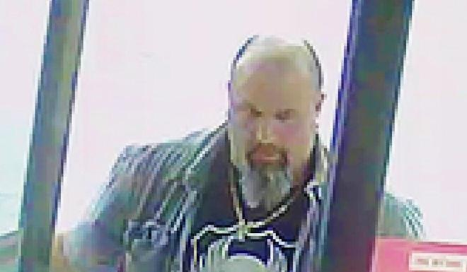 The suspect in an attack on an elderly ethnically Chinese man in a Vancouver convenience store on March 13. Photo: VPD