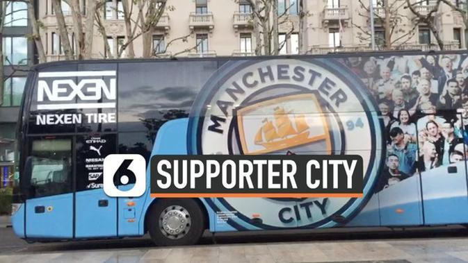 VIDEO: Gema Ribuan Suporter Manchester City di Milan