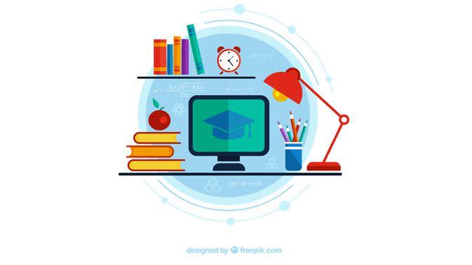 Ilustrasi Kuliah Online, Belajar Online, Kursus Online. Kredit Gambar: Freepik